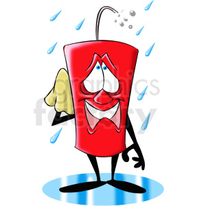 cartoon dynamite character happy for the rain clipart. Royalty-free image # 409300