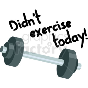 did not exercise today digital planner sticker clipart. Commercial use image # 409377