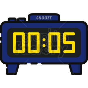 alarm clock clipart clipart. Commercial use image # 409393