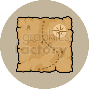 treasure map vector clipart on brown background clipart. Royalty-free image # 409413