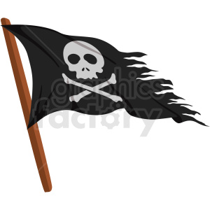 pirate flag vector clipart no background