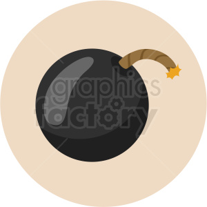 lit bomb vector clipart on light background clipart. Royalty-free image # 409420