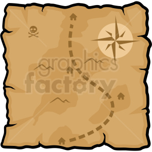 treasure map vector clipart no background clipart. Commercial use image # 409421