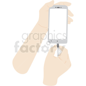 hand charging phone vector clipart no background clipart. Commercial use image # 409435