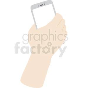 hand with phone vector clipart no background