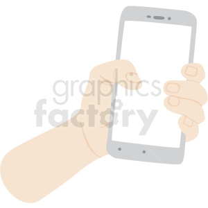 hand holding phone vector clipart no background clipart. Royalty-free image # 409456