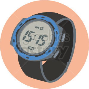 sport wrist watch on peach background clipart. Royalty-free image # 409470