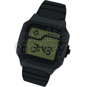digital watch no background clipart. Royalty-free image # 409471