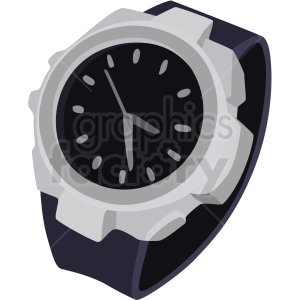 wrist watch clipart. Royalty-free image # 409481