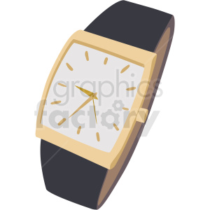 classy wrist watch no background clipart. Royalty-free image # 409493