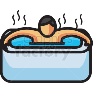 person in hot tub vector icon clipart clipart. Royalty-free icon # 409603