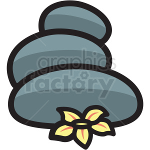 massage hot stones vector icon clipart clipart. Royalty-free image # 409623