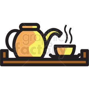 spa tea tray vector icon clipart clipart. Royalty-free image # 409626