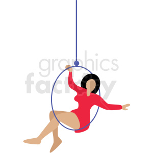 circus ring performer vector clipart