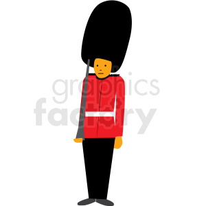 cartoon queens guard vector clipart clipart. Royalty-free image # 409637