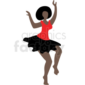 cartoon black woman dancing vector clipart clipart. Commercial use image # 409651
