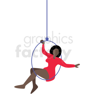 african american woman circus ring performer vector clipart clipart. Royalty-free image # 409652