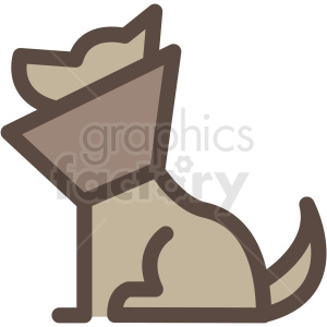 dog with medical collar vector icon clipart