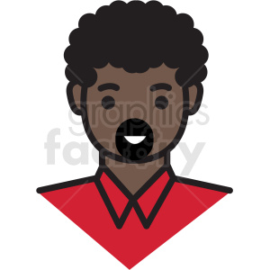 black guy avatar vector clipart clipart. Royalty-free icon # 409752