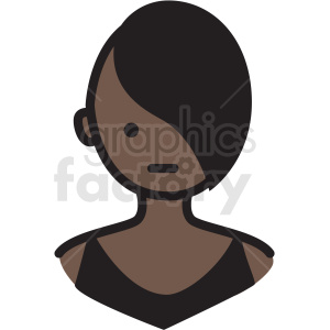 black girl avatar vector clipart clipart. Royalty-free image # 409777