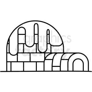 black and white igloo icon clipart. Royalty-free icon # 409791