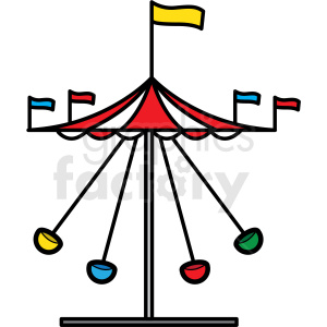 carnival swing ride icon clipart. Royalty-free image # 409901