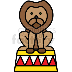 circus lion icon clipart. Commercial use image # 409916