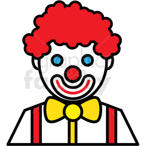 circus clown icon clipart. Royalty-free image # 409928