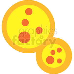 cartoon virus petri dish clipart icon
