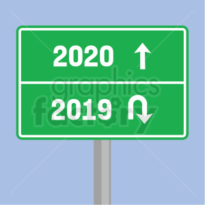 2020 road sign clipart blue background clipart. Royalty-free image # 410025
