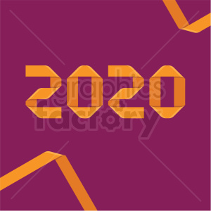 2020 ribbon new year clipart purple background clipart. Commercial use image # 410036