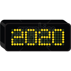 2020 clock new year clipart