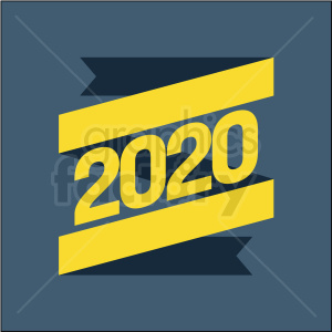 2020 flag clipart on dark background clipart. Royalty-free image # 410053