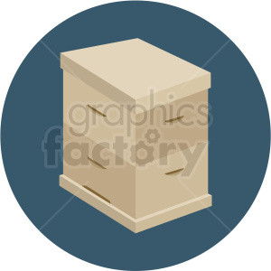 closed beehive box vector blue background clipart. Royalty-free image # 410059