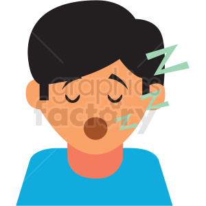 boy sleeping cartoon vector icon