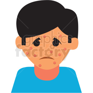 boy with chickenpox virus cartoon vector icon clipart. Commercial use image # 410129