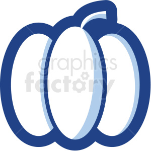 pumpkin vector icon no background clipart. Royalty-free image # 410160