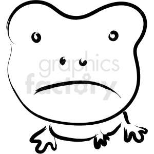 cartoon frog drawing vector icon clipart. Royalty-free image # 410197