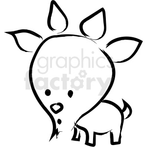 cartoon billy goat drawing vector icon clipart. Royalty-free image # 410219