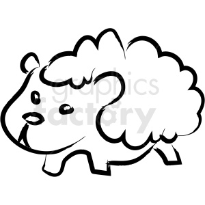 cartoon sheep drawing vector icon clipart. Commercial use image # 410247