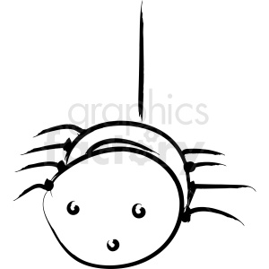 cartoon spider drawing vector icon clipart. Royalty-free image # 410248