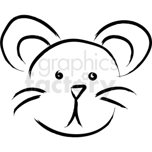 mouse face drawing vector icon clipart. Royalty-free image # 410249