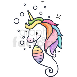 seahorse unicorn vector icon clipart clipart. Commercial use image # 410260