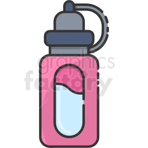 water bottle vector clipart clipart. Royalty-free image # 410261