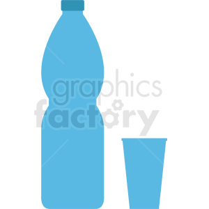 large water bottle with cup clipart clipart. Commercial use image # 410300