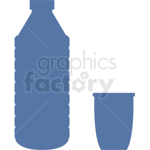 water bottle with cup vector clipart clipart. Royalty-free image # 410319