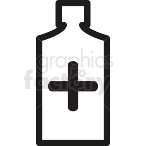 cough syrup bottle vector clipart clipart. Royalty-free image # 410344