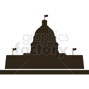 white house silhouette washington dc vector clipart clipart. Commercial use image # 410427