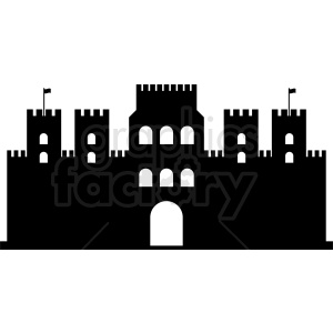 castle front silhouette vector clipart clipart. Commercial use image # 410442
