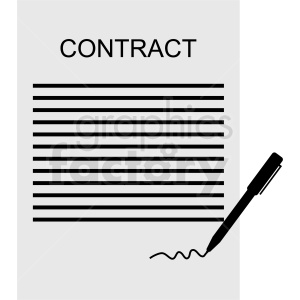 contract vector design clipart. Royalty-free image # 410459